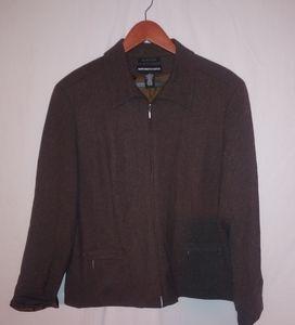 Norton McNaughton Chocolate Zip Jacket 14 Plus